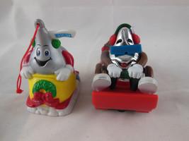 "HERSHEY Christmas Ornament KISS 1996 plus 2002 vehical 2"" - 2.5"" - $7.91"