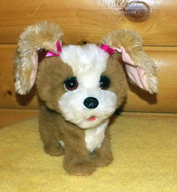 "FurReal Friends Plush 10"" Sound Action Brown & White Bouncy Happy Me Pup... - $14.89"