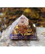 Large Tigers Eye Oregon Pyramid Orgonite 70-75MM Free Shipping - $13.49