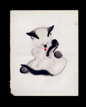 Siamese Kitten Grooming by Clare Turlay Newberry 1930s Illustration of Siamese C - $8.99
