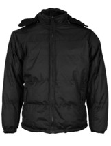 Men's Heavyweight Insulated Lined Jacket with Removable Hood w/Defect image 2