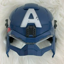 Halloween Costume Marvel Captain America Light-up Face Mask Rogers Hasbro Kids - $24.70