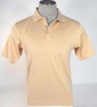 Under Armour Golf Heatgear Tan Short Sleeve Polo Shirt Mens NWT - $52.49