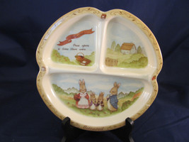 Peter Cottontail Family Peco Ware Child Baby 3 Section Divided Melamine ... - $14.96