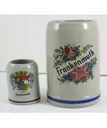Frankenmuth Beer Vintage Mug Shot Stoneware Ceramic Michigan Western Ger... - $21.38