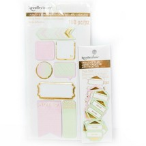 Recollections Creative Year Set New Tabs Pink Green Gold Planner Accesso... - $9.76