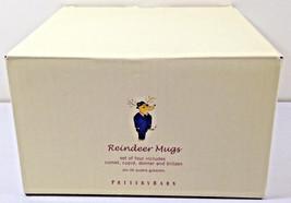 Pottery Barn Reindeer Mug Cup Set of 4 Donner Comet Blitzen Cupid Orig B... - $44.06