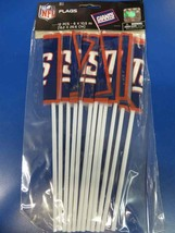 New York Giants NFL Pro Football Sports Banquet Party Favor Plastic Flags - $10.66