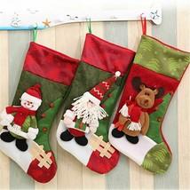 Newly New Year Decors Christmas Stockings Bag Three Dimensional Santa Cl... - $8.48