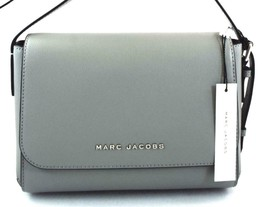AUTHENTIC NEW NWT MARC JACOBS $250 LEATHER THE COMMUTER STORM GREY MESSE... - $118.00