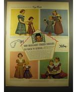 1950 Talon Margaret O'Brien Frocks fashioned by Suzy Brooks Advertisement - $14.99