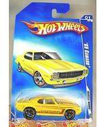 2009 Hot Wheels Walmart #77 Muscle Mania 1/10 '69 CAMARO Yellow w/Black ... - $20.25