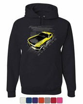 Ford Mustang Yellow Boss 302 Hoodie Vintage American Muscle Car Sweatshirt - $23.31+