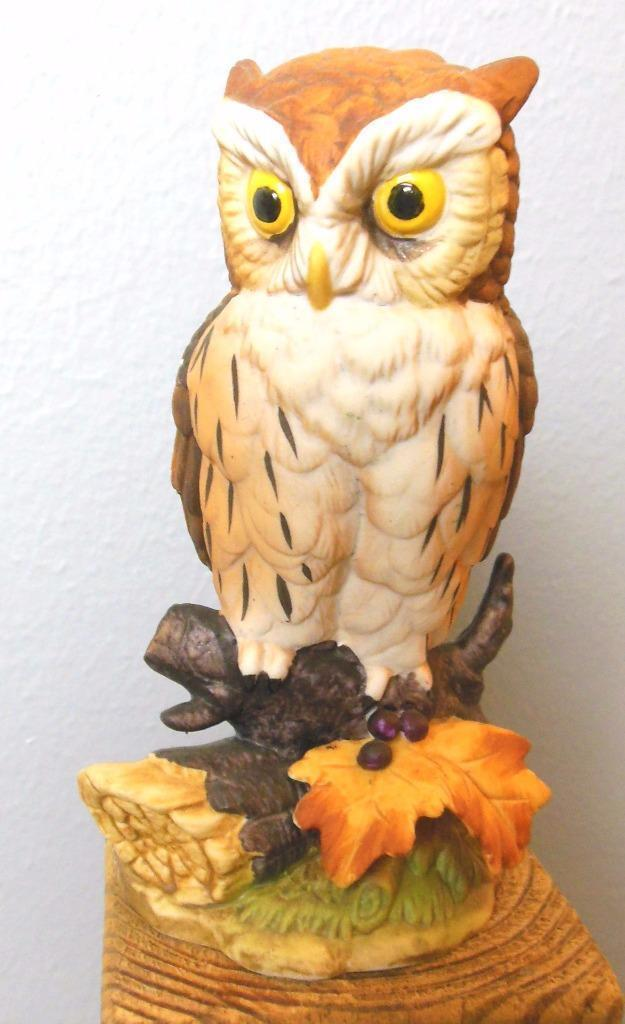 "Vintage Andrea by Sadek Animals Great Horned Owl 6"" Bird 6315"