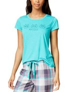 Jenni by Jennifer Moore Embroidered-Graphic Pajama Top (Turquoise, M) - $20.00