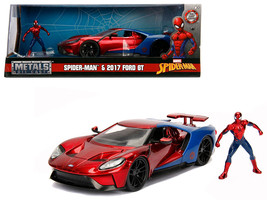 """2017 Ford GT with Spider Man Diecast Figure \""""Marvel\"""" Series 1/24 Diecast Model - $40.90"""