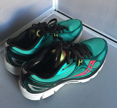 Pre Owned Saucony Mirage 5 Women's Running Shoes (Teal/Black/Pink) Size 9/40.5  - $29.95