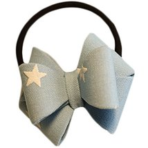 Fashion Hair Bands Bowknot Hair Rope Hair Accessories(Blue Stars)