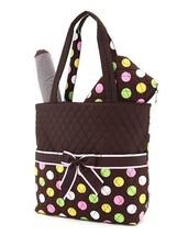 Belvah quilted polka dots 3 piece baby diaper bag LPDQ1103L(BRMT) BS795 - $22.99