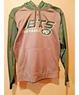 NFL Team Apparel New York Jets NFL Football Green Gray Hoodie jacket Sz S - $14.84