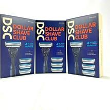 3 Pack Dollar Shave Club 4-Blade Razor All Terrain Bundle 1 Handle 4 Car... - $19.79