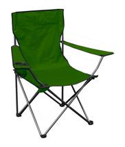 Portable Standard Folding Quad Chair - Green Fabric/Silver Frame - $31.19