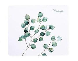 Fashion Creative Home Office Mouse Pad, White Bottom And Leaves - €13,68 EUR