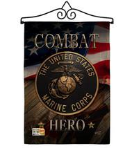 Marine Combat Hero Burlap - Impressions Decorative Metal Wall Hanger Gar... - $36.97