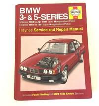 BMW 3-Series & 5-Series Haynes Service & Repair Manual Hardcover Book 19... - $19.99