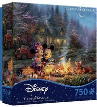 Thomas Kindade Disney Mickey Minnie Mouse Pluto Country Camp 750 Puzzle ... - $19.79