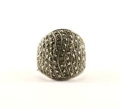 Vintage Dome Shape Marcasite Design Ring 925 Sterling RG 3386 - $19.99