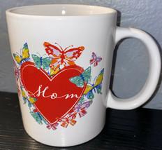 NEW Mothers Day Mug Cup Coffee Tea Gift  Mom Ceramic Heart Butterflies - £3.86 GBP