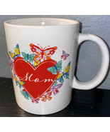 NEW Mothers Day Mug Cup Coffee Tea Gift  Mom Ceramic Heart Butterflies - £3.86 GBP