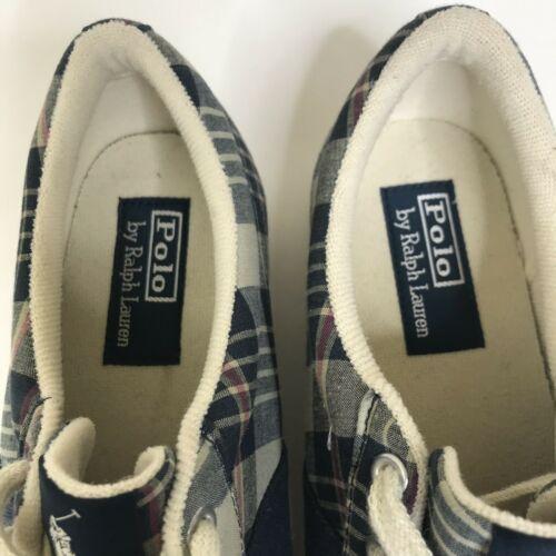 Polo Ralph Lauren Shoes Men Size 9.5D Plaid Sneakers
