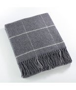 Fennco Styles Sevan Collection Geometric Design Wool Blend Throw Blanket - £60.09 GBP