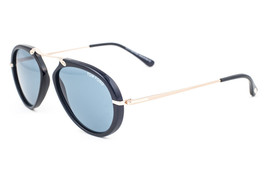 Tom Ford Aaron Black & Gold / Blue Sunglasses TF473 01V - $185.22