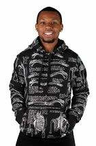 40 Oz New York NY 40 Bones Black Pullover Hoodie Hooded Sweater NWT image 3