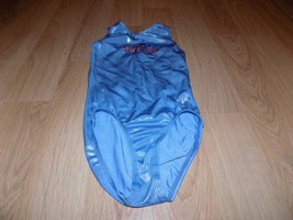 "Size Medium ? 21"" GK Elite Light Blue Foil Gymnastics Leotard TENNESSEE ... - $22.00"