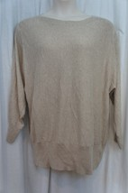 Alfani Sweater Woman Sz 2X Alf Oatmeal Twist Ribbed Dolman Cotton Rayon Blend  - $29.62