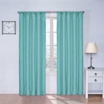 Set 2 Turquoise Blue Curtains Panels Drapes Pair 63 84 inch Blackout Lig... - $25.64+