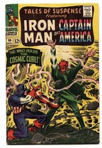 TALES OF SUSPENSE #80 comic 1966-CAPTAIN AMERICA-RED SKULL cosmic cube VG - $31.53