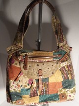 Fossil extra large multi colored tote bag purse - $34.65