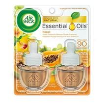 Air Wick Scented Oil 2 Refills, Hawaii, 2X0.67oz, Air Freshener