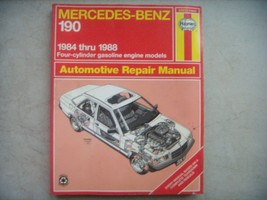 Mercedes Benz 190  Haynes Repair Manual, Service Guide 1984-1988. Book #... - $11.88