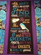 Christian Wall Hanging 12 x 14 Ask Seek Knock Matthew 7:7-8 - $45.00