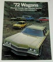 Chevrolet 1972 Wagon Kingswood Vega Chevelle Stationwagon Sales Brochure - $10.99