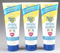 New Banana Boat Kids Simply Protect Sunscreen Lotion SPF 50 3 Pack 7.5 OZ EA