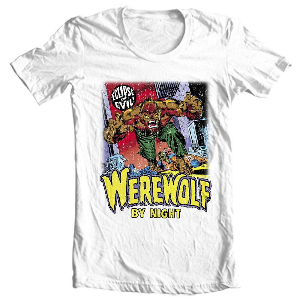 Werewolf by Night T Shirt vintage marvel horror comics Legion of Monsters tee