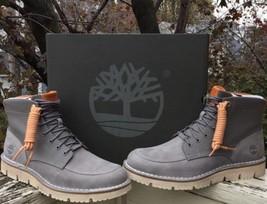 Timberland Westmore Leather/Fabric Boot - Men's Medium Grey Nubuck/Canva... - $127.71
