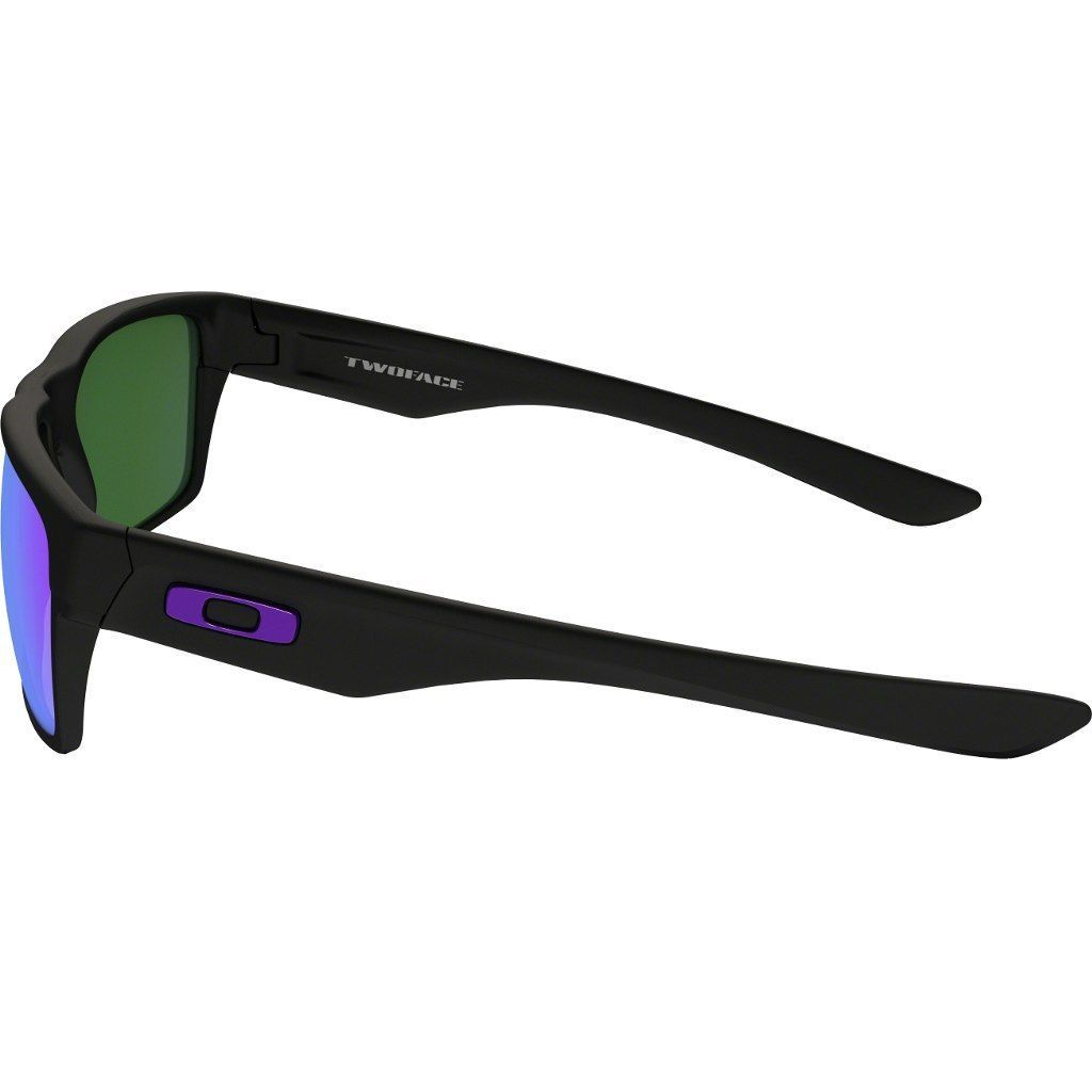 Neuf Oakley Deux Visage Mat Noir avec / Violet Iridium 9189-08